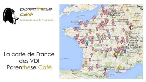 La carte de France Parenthese Café