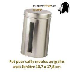 Pot café moulu ou en grains 10.7 x 17.8