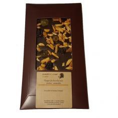 Plaque de chocolat noir raisins - amandes - Parenthese Café
