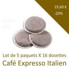 Dosettes Expresso italien - Lot de 5 paquets