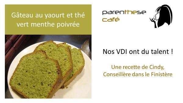 Gâteau au yaourt et thé vert Bio menthe poivrée