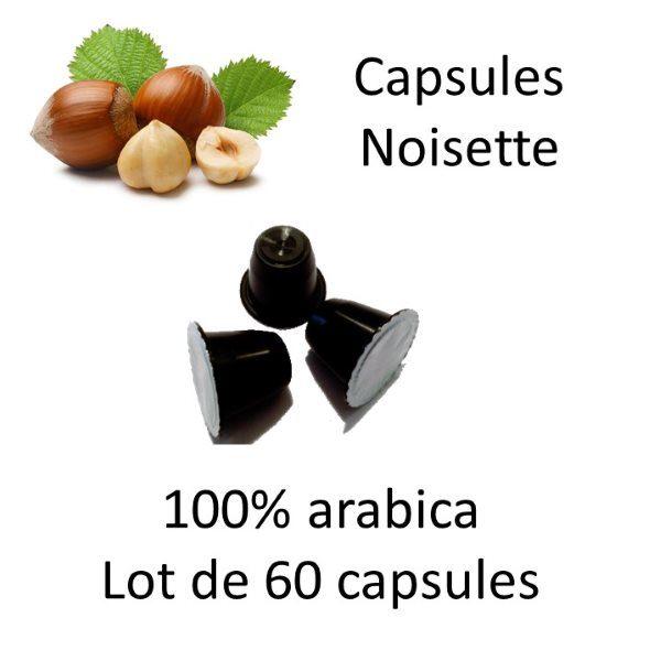 60 Capsules noisette Carré - Lot de 6 paquets - Parenthese Café