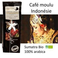 Café moulu d'Indonésie Sumatra Bio - Parenthese Café