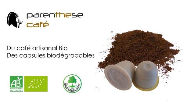 Capsules Bio et Biodégradables Parenthese Café