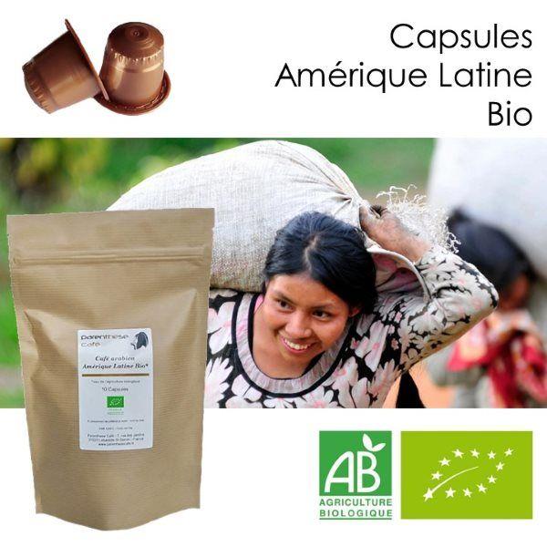 Capsules café Amérique Latine Bio - Parenthese Café