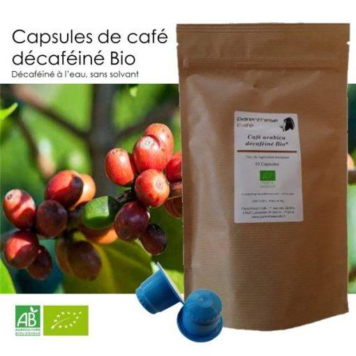 Capsules de café décaféiné Bio Parenthese Café