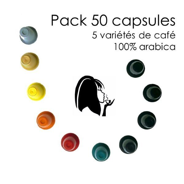 Pack 50 capsules arabica Parenthese Café