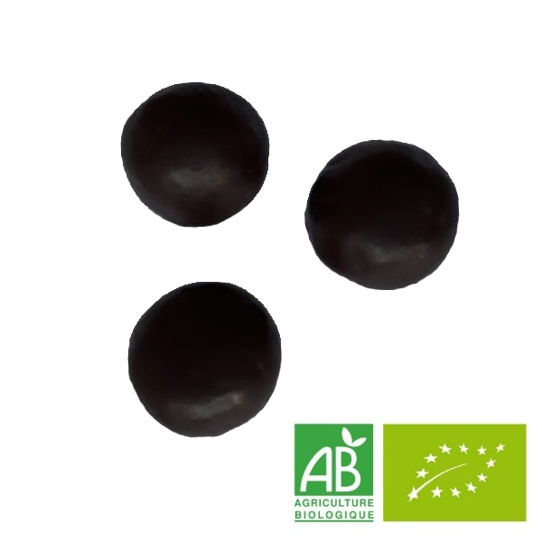 Perles de fruit famboise & chocolat noir Bio