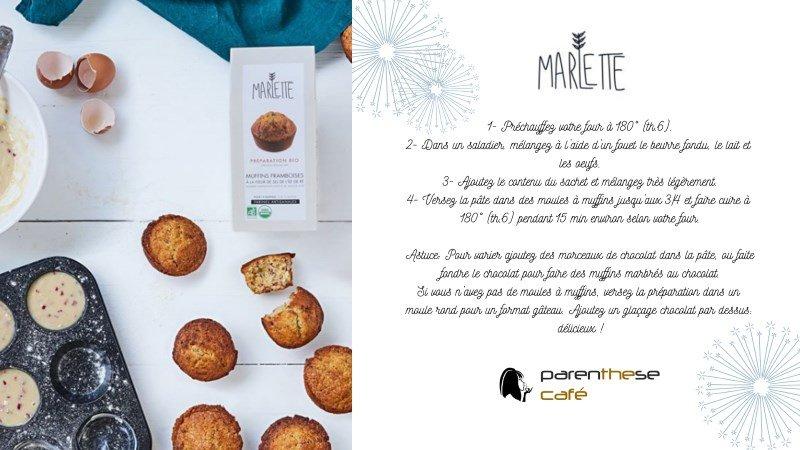 Recette Vegan des Muffins Framboises - Parenthese Café