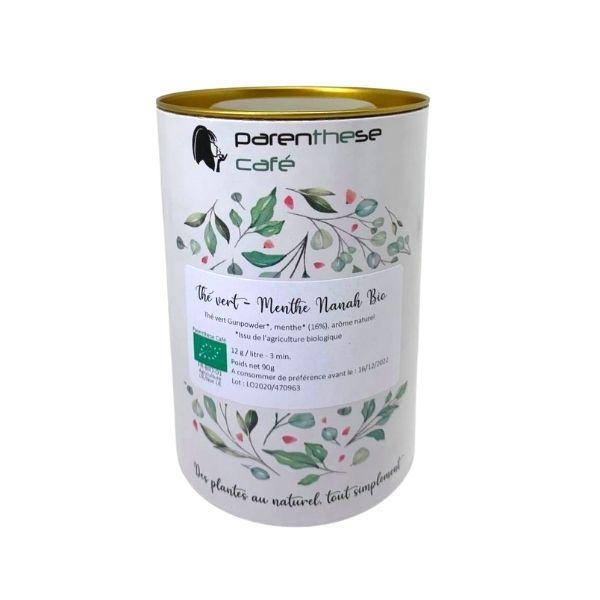 Thé vert menthe nanah Bio boîte - Parenthese Café